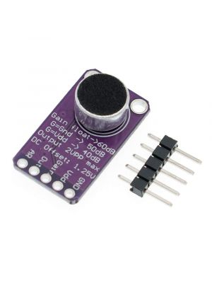 MAX9814 Electret Microphone Amplifier Board with AGC Function - Auto Gain Control Programmable Attack and Release Ratio Low THD - DC 2.7v-5.5v - 20mm x 15mm