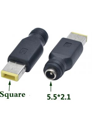 DC Power socket 5.5 x 2.1 mm FEMALE -to- MALE Lenovo Square Plug 7.9 x 5.5 mm | Connector Adapter Converter