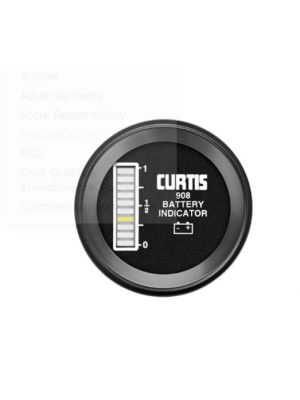 Curtis Solid state battery fuel gauge and hour meter Model 908