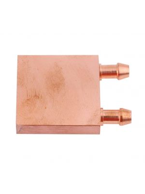 Copper Water Cooling Block 40x40x12mm Liquid Cooler Waterblock Radiator