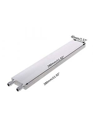 Aluminium 280MM Long Water Cooling Block - 280x40x12mm Liquid Cooler Waterblock Radiator - for GPU CPU Cooling heatsink