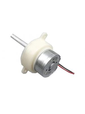 10RPM Slow Speed Micro Turbo Gear Motor - Micro 300 Gearbox Speed Reduction Motor - Long Thread Shaft - 38mm DC 6V-12V 10 rpm