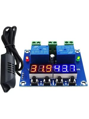 XH-M452 High Precision DC 12V 10A Digital LED Dual Output Temperature and Humidity Controller Module with SHT20 Sensor