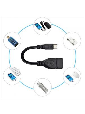 USB 2.0 A Female to B Micro Male 5 Pin Adapter Cable Black 10cm OTG Host Adapter Cable Extension