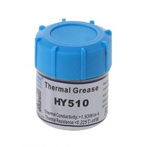 HY510 Halnziye Grey Silicone Graphite Thermal Grease Compound Paste for PC CPU VGA Heatsink peltier (10G Can)