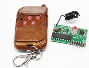 IC2262 2272 433MHZ 4 Channel Wireless Control kit - Receiver Module and 4 Button Remote Control