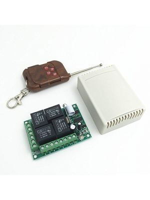 4 Channel Relay with Remote control - 433Mhz RF Remote - Remote control Switch - Home Automation - IoT