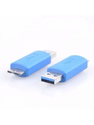 USB to USB Coupler Adapter Converter - USB 3.0 Standard Type A Male to Micro B Male connector