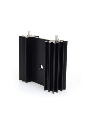 TO-220 34 * 12 * 30MM Aluminium Heatsink - suitable for IGBT Transistors MOSFET Triod IC - Black Anodised with Cooling Fin and PIN