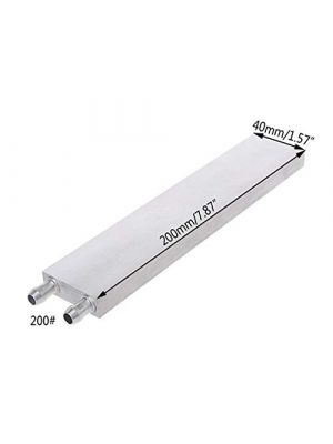 Aluminium 200MM Long Water Cooling Block - 200x40x12mm Liquid Cooler Waterblock Radiator - for GPU CPU Cooling heatsink
